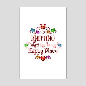 Knitting Happy Place Mini Poster Print