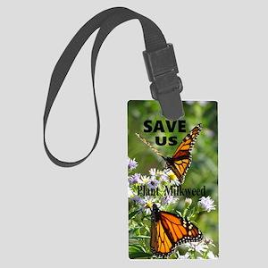 Save Monarchs Large Luggage Tag