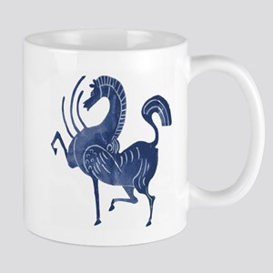 Vintage Flying blue horse Mugs
