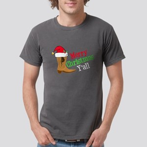 Cowboy Christmas Mens Comfort Colors Shirt