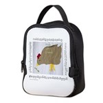 """""""Crumbs""""&chicken Neoprene Lunch Bag"""