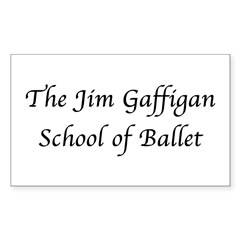 JG SCHOOL OF BALLET Rectangle Decal