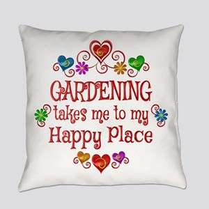 Gardening Happy Place Everyday Pillow
