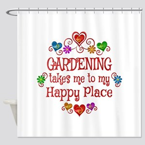 Gardening Happy Place Shower Curtain