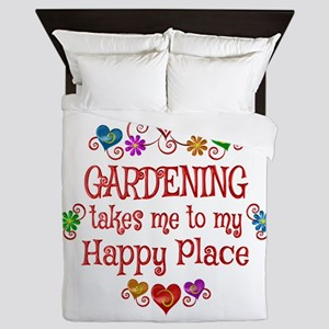 Gardening Happy Place Queen Duvet