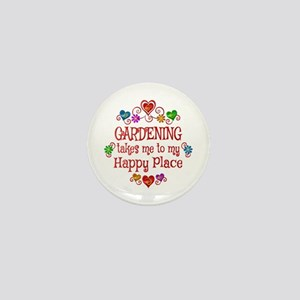 Gardening Happy Place Mini Button