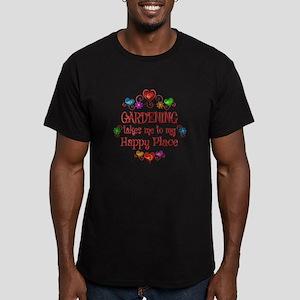 Gardening Happy Place Men's Fitted T-Shirt (dark)