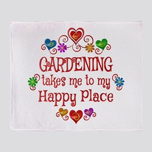 Gardening Happy Place Throw Blanket