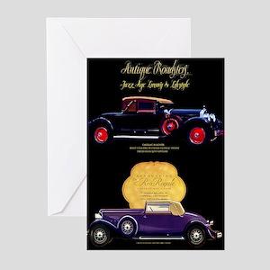 Art Deco Jazz Era Roadsters Greeting Cards