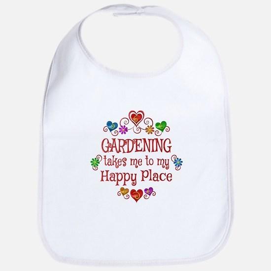 Gardening Happy Place Bib