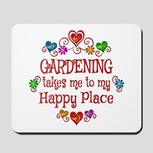 Gardening Happy Place Mousepad