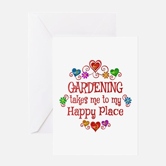 Gardening Happy Place Greeting Card
