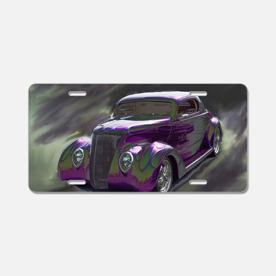 Cute Muscle car Aluminum License Plate