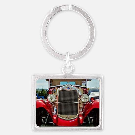 Cute Hot rods Landscape Keychain