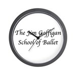 JG SCHOOL OF BALLET Wall Clock