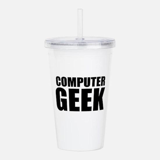 Computer Geek Acrylic Double-wall Tumbler