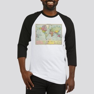Vintage Political Map of The World Baseball Jersey