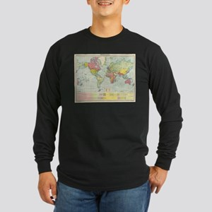 Vintage Political Map of The W Long Sleeve T-Shirt