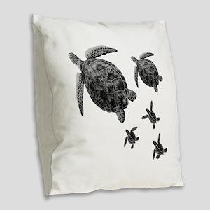 FAMILY Burlap Throw Pillow