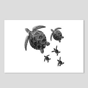 Hawaiian Sea Turtle Tattoo Postcards Cafepress