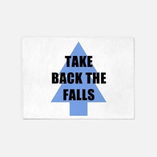Take Back the Falls 5'x7'Area Rug