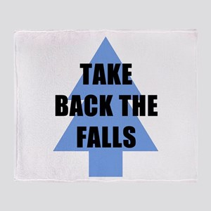 Take Back the Falls Throw Blanket