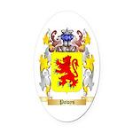Powys Oval Car Magnet