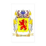 Powys Sticker (Rectangle 50 pk)