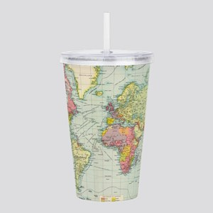 Vintage Political Map Acrylic Double-wall Tumbler