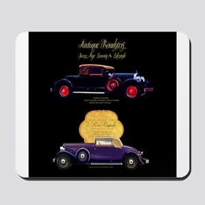 Art Deco Jazz Era Roadsters Mousepad