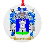 Poux Round Ornament