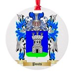 Pouts Round Ornament