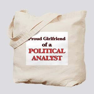 Proud Girlfriend of a Political Analyst Tote Bag