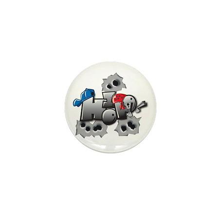 hip hop Mini Button (10 pack)