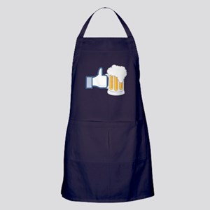 Like Beer Social Parody Apron (dark)