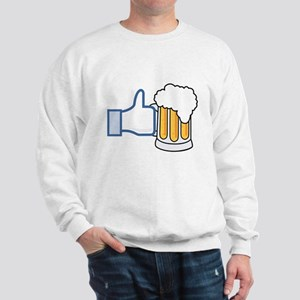 Like Beer Social Parody Sweatshirt
