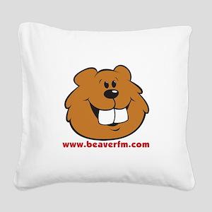 Beaver FM logo Square Canvas Pillow