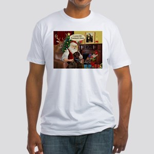 Santa's Therapy Dog (Lab-C) Fitted T-Shirt