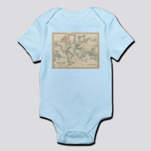 Vintage Map of The World (1911) Body Suit