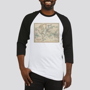 Vintage Map of The World (1911) Baseball Jersey