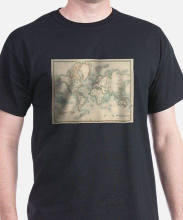 Vintage Map of The World (1911) T-Shirt