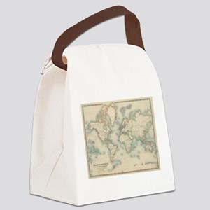 Vintage Map of The World (1911) Canvas Lunch Bag