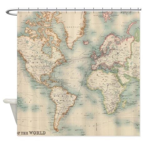 Vintage Map Of The World 1911 Shower Curtain By ADMIN CP17960464
