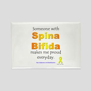 """Spina Bifida Pride"" Rectangle Magnet"
