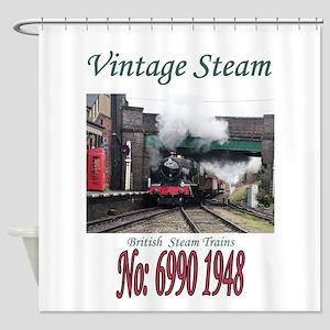 Vintage Steam Railway Train number Shower Curtain