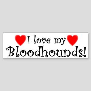 I Love My Bloodhounds Bumper Sticker