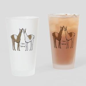 i llove llamas Drinking Glass