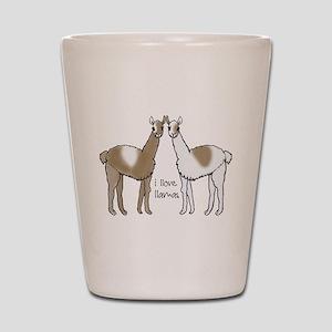 c6d79ebbbc Llamas Shot Glasses - CafePress