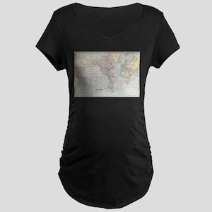 Vintage World Map (1901) Maternity T-Shirt