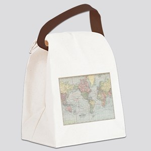Vintage World Map (1901) Canvas Lunch Bag